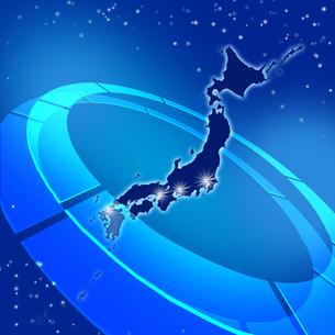 日本地図の写真素材 [FYI00099509]