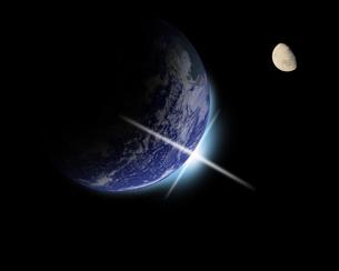 地球の夜明けの写真素材 [FYI00099590]