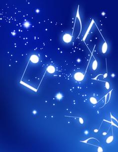 夜空と音楽の写真素材 [FYI00099663]