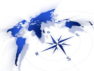 コンパスと世界地図の写真素材 [FYI00099675]