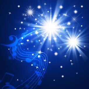 夜空と音楽の写真素材 [FYI00099686]