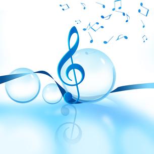 音楽と球体の写真素材 [FYI00099710]
