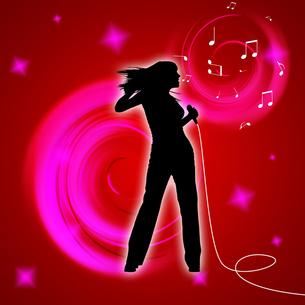女性歌手の写真素材 [FYI00099713]