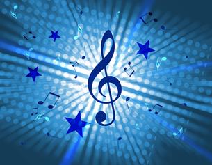 音楽と星と光の写真素材 [FYI00099743]