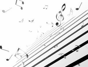 踊る音符の写真素材 [FYI00099770]