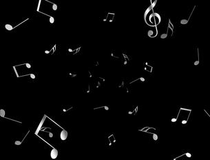 乱れ飛ぶ音符の写真素材 [FYI00099771]