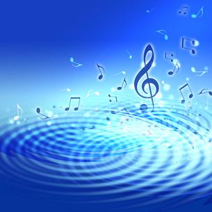 水面と音楽の写真素材 [FYI00099777]