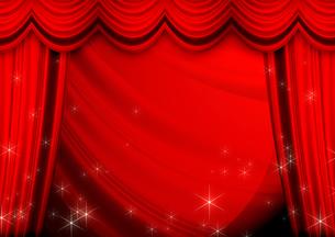 赤いカーテンの写真素材 [FYI00099862]