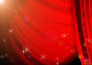 赤いカーテンの写真素材 [FYI00099865]