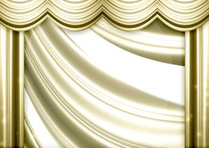 ゴールドのカーテンの写真素材 [FYI00099868]