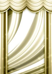 ゴールドのカーテンの写真素材 [FYI00099879]
