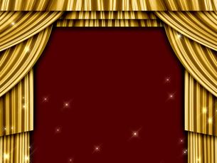 ゴールドのカーテンの写真素材 [FYI00099888]