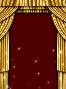 ゴールドのカーテンの写真素材 [FYI00099894]