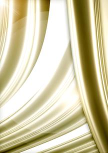 ゴールドのカーテンの写真素材 [FYI00099898]