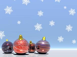クリスマスボールの素材 [FYI00099994]