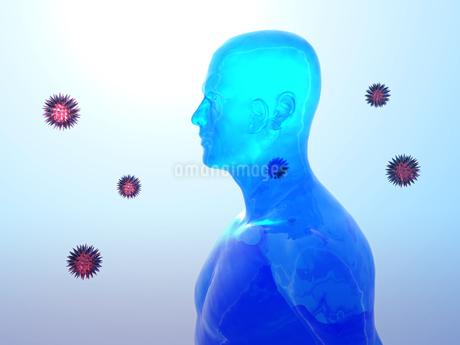 ウイルスイメージのイラスト素材 [FYI00100056]