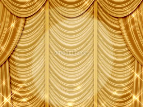 ゴールドのカーテンのイラスト素材 [FYI00100072]