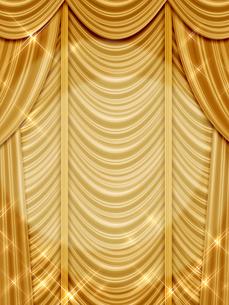ゴールドのカーテンのイラスト素材 [FYI00100081]