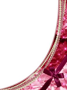 薔薇と真珠のフレームの素材 [FYI00100219]