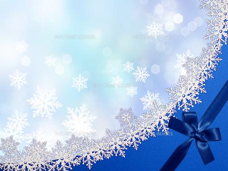 雪の結晶の背景素材の素材 [FYI00100224]