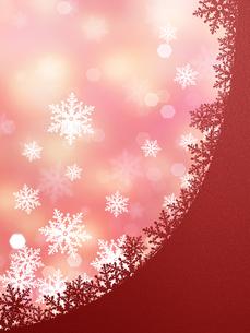 雪の結晶の背景素材の素材 [FYI00100229]