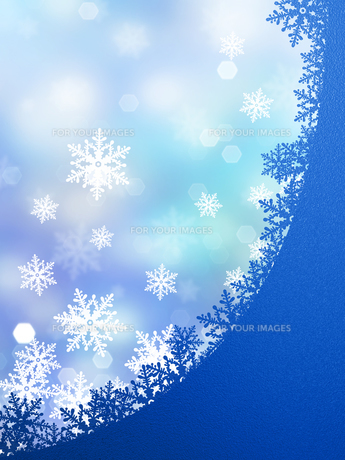 雪の結晶の背景素材の素材 [FYI00100233]