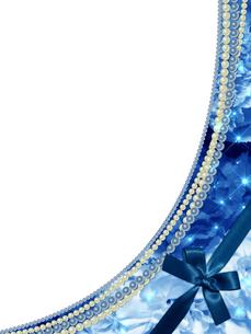 薔薇と真珠のフレームの素材 [FYI00100248]