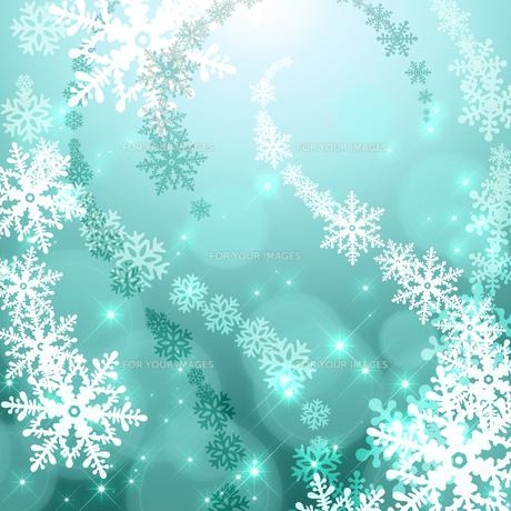 雪の結晶の背景素材の素材 [FYI00100253]