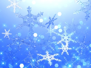 雪の結晶の背景素材の素材 [FYI00100271]