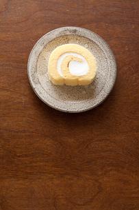 ロールケーキの写真素材 [FYI00100329]