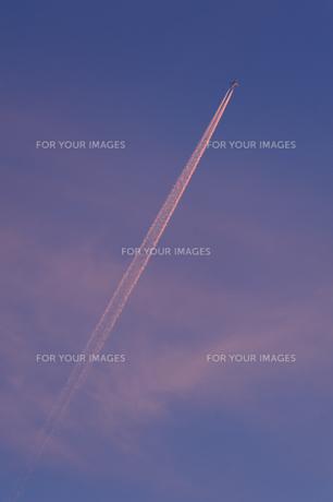 飛行機雲の素材 [FYI00100887]