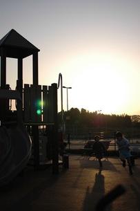 夕方の公園の写真素材 [FYI00100975]