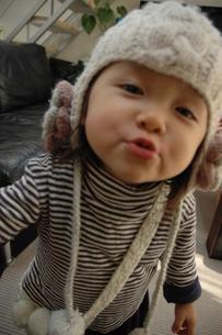 子供の表情の写真素材 [FYI00100992]