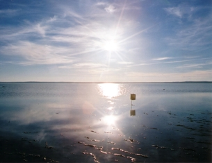 トルコの塩湖の写真素材 [FYI00101058]