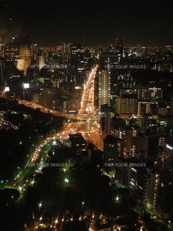 東京タワーからの夜景の写真素材 [FYI00101368]