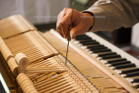 ピアノ調律の素材 [FYI00101800]