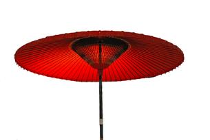 茶屋の傘の写真素材 [FYI00101846]