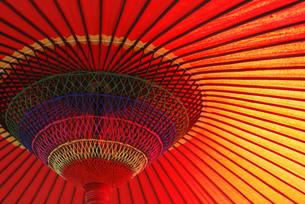 茶屋の傘の写真素材 [FYI00101849]