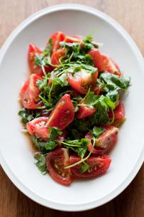 トマトと香菜のサラダの写真素材 [FYI00102563]