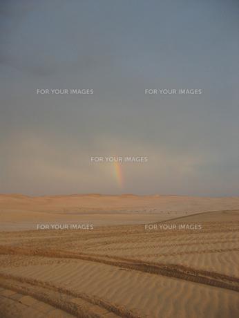 砂漠の虹の写真素材 [FYI00103112]