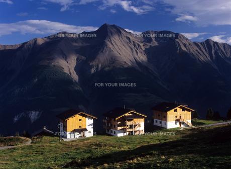 スイスの山岳ホテルの素材 [FYI00103175]