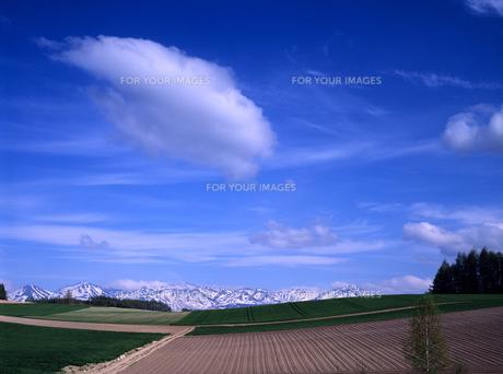 山脈と青空の素材 [FYI00103274]