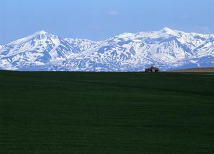 残雪の山と大地の写真素材 [FYI00103282]