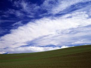 秋の大地と青空の素材 [FYI00103598]