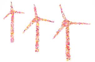 カラースプレーでの風力発電のイメージの素材 [FYI00104057]