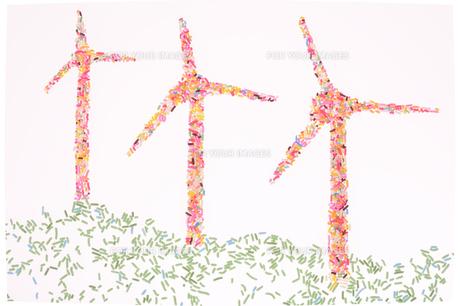 カラースプレーでの風力発電 のイメージの素材 [FYI00104078]
