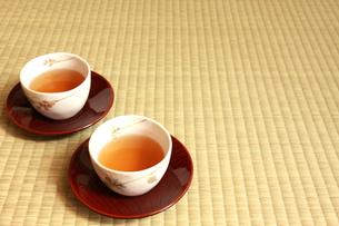 畳とお茶の写真素材 [FYI00105697]