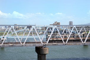 鉄橋の写真素材 [FYI00105819]