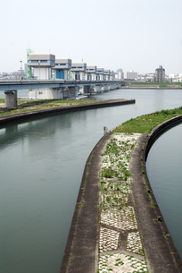 淀川大堰管理橋の写真素材 [FYI00105868]