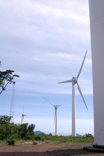 風力発電の風車の写真素材 [FYI00105918]